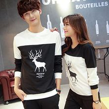 belle epoque - Couple Matching Deer Print Long-Sleeve T-Shirt