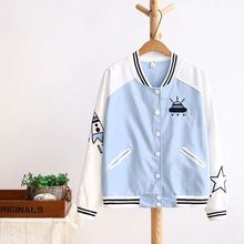 TOJI - Embroidered Buttoned Baseball Jacket