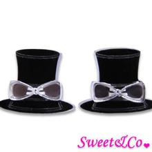 Sweet & Co. - Sweet Mirror Hatter Ribbon Stud Earrings