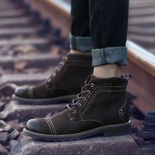 MARTUCCI - Genuine-Leather Chukka Boots