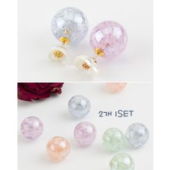 Miss21 Korea - Set of 2: Transparent Ball Earring Backs