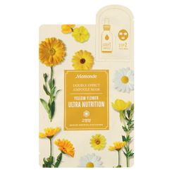 Mamonde - Double Effect Ampoule Mask (Yellow Flower Ultra Nutrition): Ampoule 1ml + Mask 1sheet