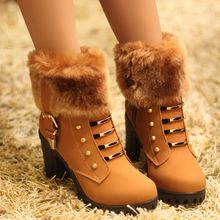 MANMANNI - Furry-Accent Shoe Boots