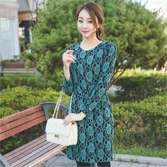 ode' - Floral Patterned Sheath Dress