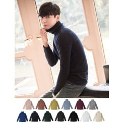 STYLEMAN - Turtle-Neck Colored Top