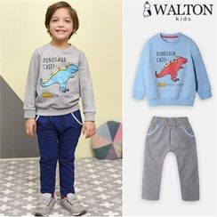 WALTON kids - Boys Set: Printed Sweatshirt + Sweatpants