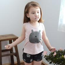 Lemony dudu - Kids Sleeveless Bear Print T-Shirt