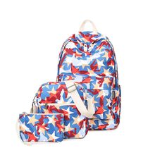 VIVA - Set of 3: Star Print Backpack + Crossbody Bag + Pouch