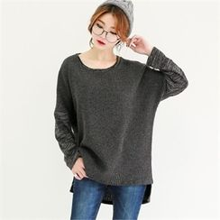 GLAM12 - Wool-Blend Round-Neck Ribbed Knit Top