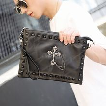 BagBuzz - Cross Studded Clutch