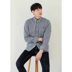 GERIO - Pocket-Front Stripe Shirt