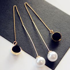 EPOQ - Faux Pearl Threader Earrings