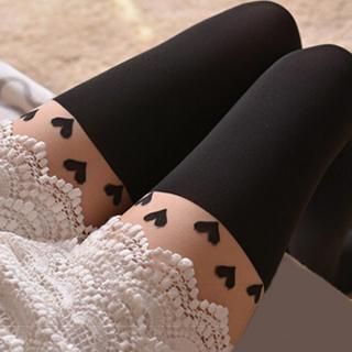 LA SHOP - Heart Tattoo Tights