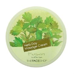 The Face Shop - Herb Day Massage Cream Mugwort 150ml