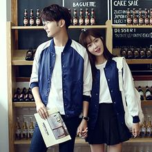 Tabula Rasa - Couple Matching Color Panel Baseball Jacket