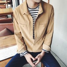 ZZP HOMME - Corduroy Long-Sleeve Shirt