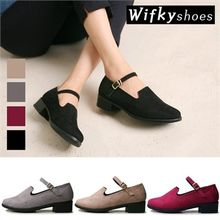 Wifky - Mary-Jane Strap Faux-Suede Loafers