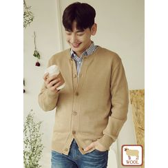 JOGUNSHOP - Round-Neck Wool Blend Cardigan