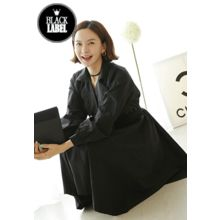 Lemite - Flap-Front Coatdress with Belt