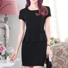 illusione - Short-Sleeve Peplum Dress