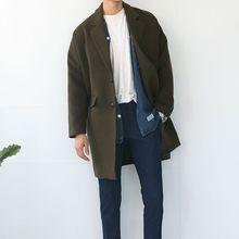 Arthur Look - Plain Lapel Knit Coat