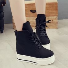 Wello - Platform Hidden Wedge High Top Sneakers