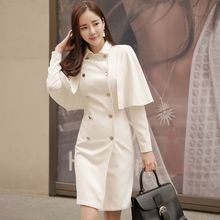 Dimanche - Double-Breasted Inset Capelet Coatdress