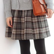 Forest Girl - Plaid Pleated Skirt