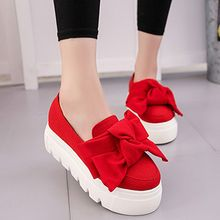Pixie Pair - Platform Bow Loafers