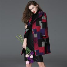Y:Q - Color Block 3/4-Sleeve Coat