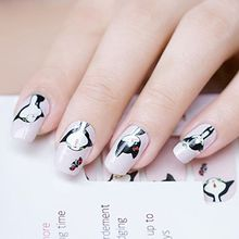 GEL NAILS - Cat Print Nail Wrap