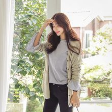 Seoul Fashion - Dual-Pocket Long Cardigan