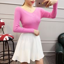 Ekim - V-Neck  Long Sleeve Knit Top