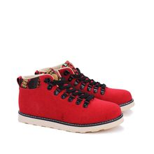 Chariot - Paneled Lace-Up Casual Shoes