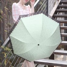 Petrichor - Floral Print Lace Trim UV Protection Compact Umbrella
