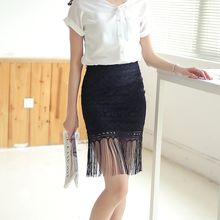 Loverac - Fringe Hem Lace Mini Skirt