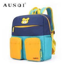 Ausqi - Kids Color-Block Canvas Backpack