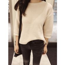 maybe-baby - 3/4-Sleeve Knit Top