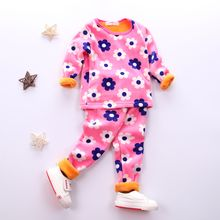 POMME - Baby Pajama Set: Long-Sleeve Printed Top + Pants