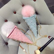 Diamante - Ice-Cream Chained Shoulder Pouch