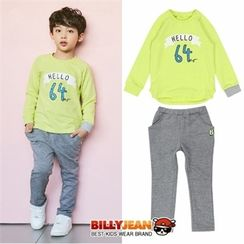 BILLY JEAN - Kids Set: Lettering T-Shirt + Sweatpants