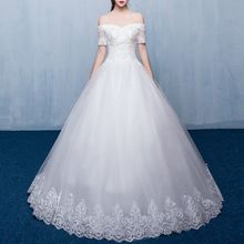 Luxury Style - Lace Panel Wedding Ball Gown