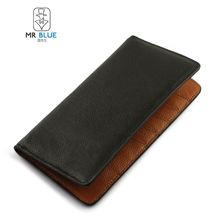 MR.BLUE - Genuine Leather Long Wallet