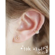 Miss21 Korea - 10K Gold Lettering Stud Earrings