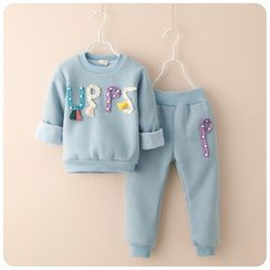Rakkaus - Set: Applique Pullover + Sweatpants