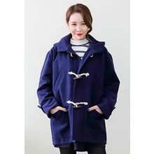 Dalkong - Hooded Toggle-Button Coat