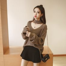 Lovebirds - Set: Cutout Sweater + Skirt