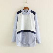Mushi - Color Panel Striped Shirt