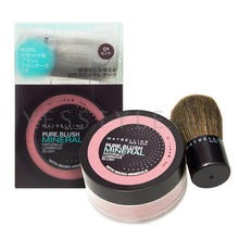 Maybelline New York - Pure Mineral Naturally Luminous Blush with Brush (#01 Pink)