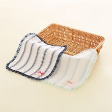 Cottoncraft - Pinstriped Mesh Trim Handkerchief